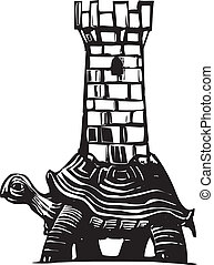 tartaruga, torre