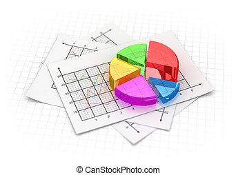 tarte, business, diagramme