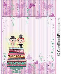 tarte, carte, mariage
