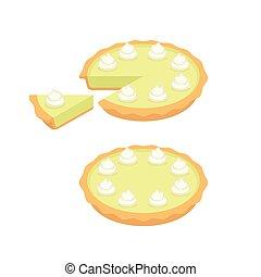 tarte, clã©, chaux