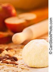 tarte, pomme, ingrédients