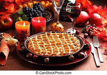 tarte, thanksgiving, pomme
