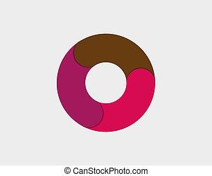 tarte, vecteur, diagramme, coloré, infographic., illustration., diagramme