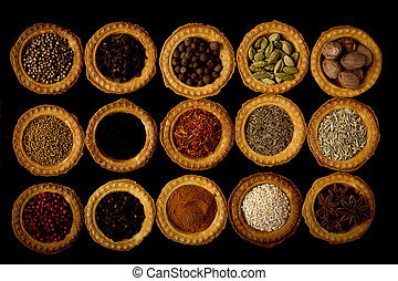 Tartlets with spices