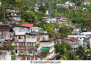 tartomány, fülöp-szigetek, falu, banaue, ifugao