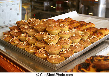 cupcakes - tarts and cupcakes at a bakery