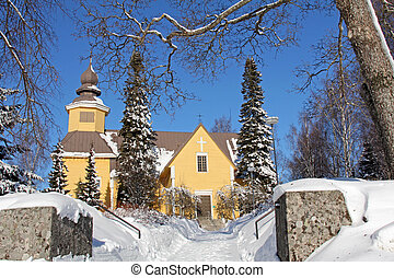 Tarvasjoki Church in Finland