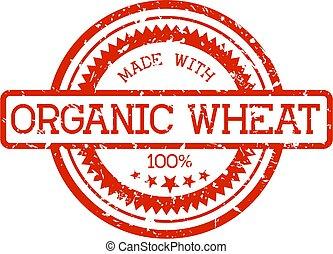 tarwe, postzegel, organisch, rubber