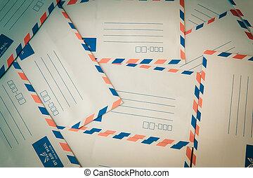 tas, air, enveloppe, courrier
