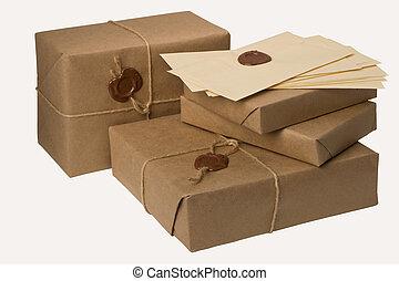 tas, colis, courrier