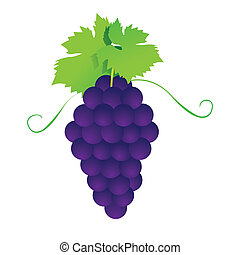tas, de, grapes., vecteur