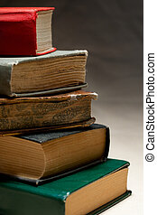 tas, de, vieux livres