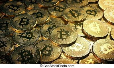 tas, en mouvement, bitcoin, coup