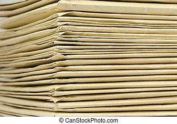 tas, enveloppes