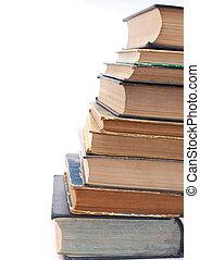 tas, livres, vieux