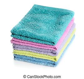 tas, serviettes, multicolore