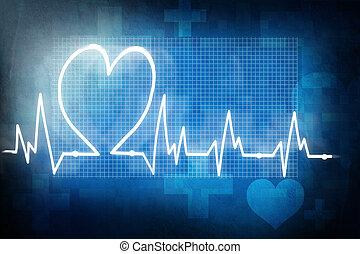 tasa corazón, cardiograma