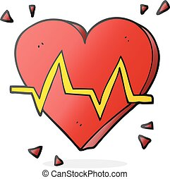 tasa corazón, caricatura