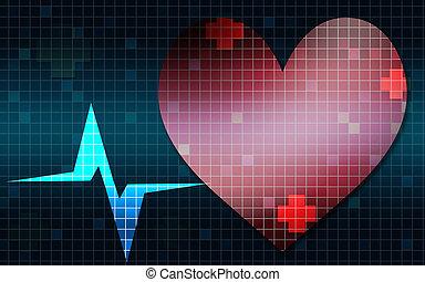 tasa corazón, frecuencia, gráfico