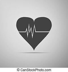 tasa corazón, icon.