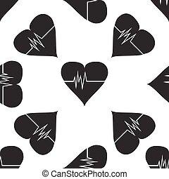 tasa corazón, icono, patrón