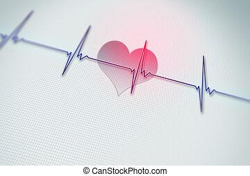 tasa corazón, plano de fondo