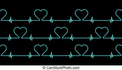 tasa corazón, ritmo, plano de fondo