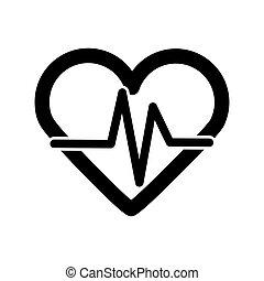 tasa corazón, vector, icono