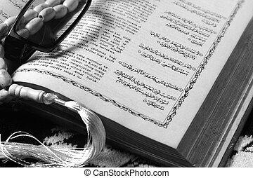 tasbih - moslem prayer beads at prayer mat