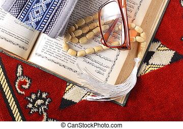 tasbih, -, moslim gebed, kralen