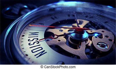 tasca, face., orologio, missione