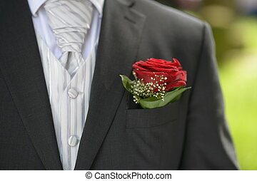 tasca, fiore, completo