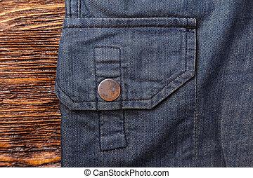 tasca, fondo, pantaloni