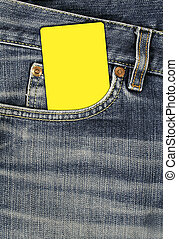 tasca, jean, vuoto, scheda, struttura