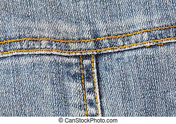tasca, jeans, dettaglio