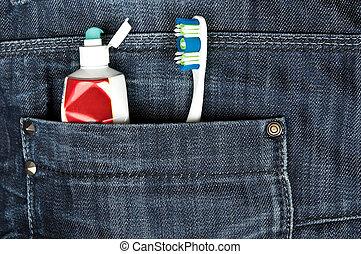 tasca,  jeans