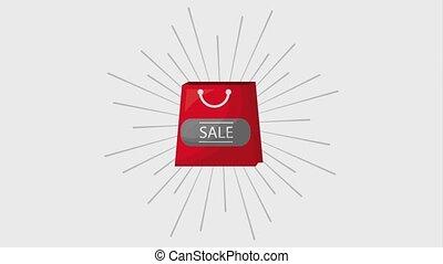 tasche, animation, shoppen, markt, online