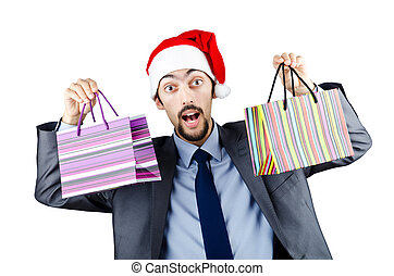 tasche, begriff, shoppen, weihnachten