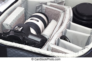 tasche, fotoapperat, tragbar