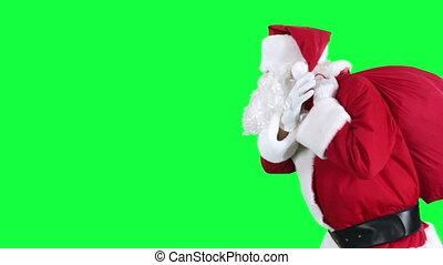 tasche, geschenk, claus, santa