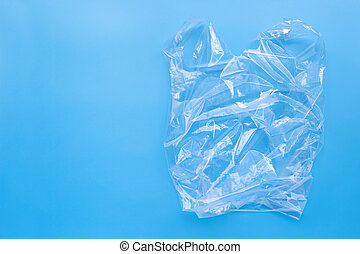 tasche, hintergrund., plastik, blaues