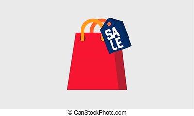 tasche, preisetikett, shoppen