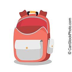 tasche, rucksack, design, schule