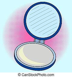tasche, vektor, kunst, knall, spiegel