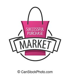 tasche, vektor, shoppen, markt, logo