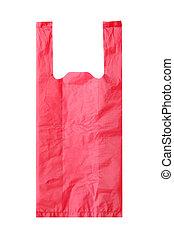 tasche, weiß rot, hintergrund, plastik
