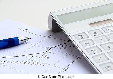 Taschenrechner, Bestand, Tabelle,  bearish