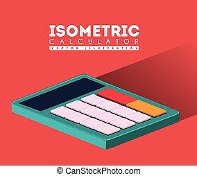 taschenrechner, design, vektor, illustration.