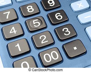 taschenrechner, schlüssel, closeup