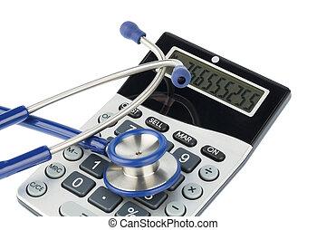 taschenrechner, stethoskop